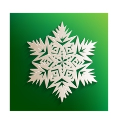 Snowflake sign with paper effect vector