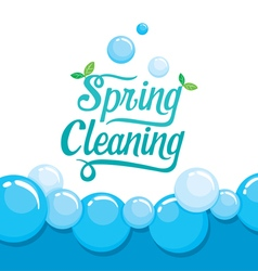 Spring cleaning letter decorating and foam vector