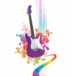 Funny guitar vector
