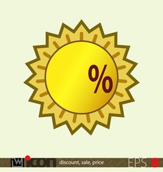 Sale discount price tag vector