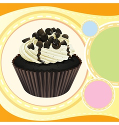 A cupcake and a wallpaper vector