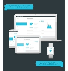 Adaptive webdesign technology mockup vector image