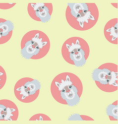 Alpaca or lama seamless pattern vector