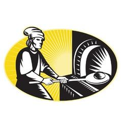 Baker retro symbol vector
