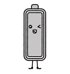 Battery level kawaii character vector
