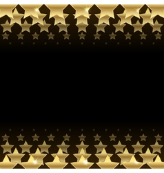 black background with stars vector image