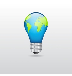 Bulb with planet vector image vector image