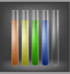 Chemical test tube set vector