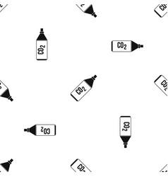 Co2 bottle pattern seamless black vector