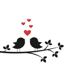 cute birds sing in love vector image