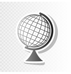 Earth globe sign new year blackish icon vector