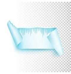 Emty christmas banner vector image