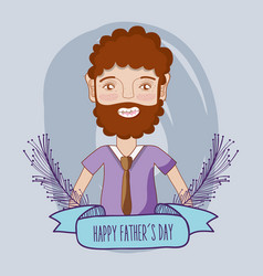 father day celebration with ribbon decoration vector image vector image