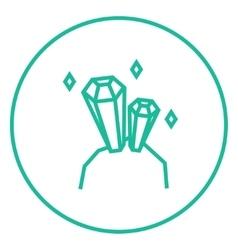 Gemstones line icon vector