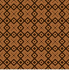 Geometry pattern orange vector image vector image