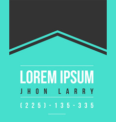 Graphic business template name card design vector