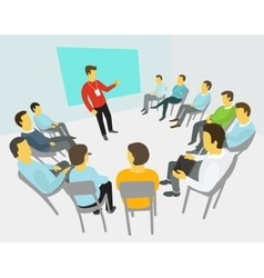 Group of business people having a meeting vector