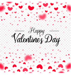 happy valentines day red paper hearts vector image vector image
