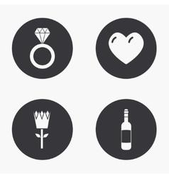 modern love icons set vector image