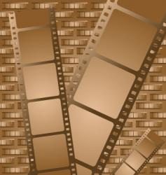 old brown film vector image