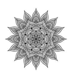 outline mandala vector image vector image