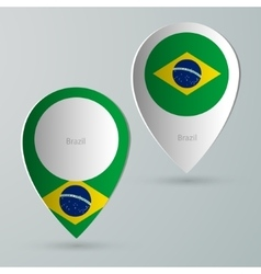 Paper of map marker for maps brazil vector