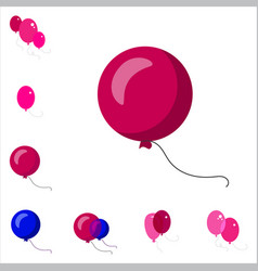 party balloon icons isolated on white background vector image vector image