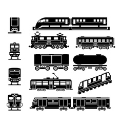 Passenger and public rail city transport black vector