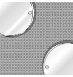 polished metal steel vector image