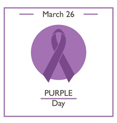 Purple day vector