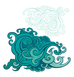 sea waves set vector image vector image