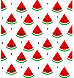 Seamless background of watermelon vector
