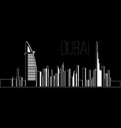 skyline of dubai vector image