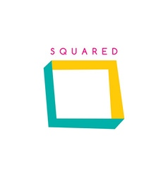 square theme logotype vector image
