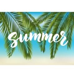 Summer hand drawn brush lettering vector image
