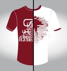 t shirt design vector image vector image
