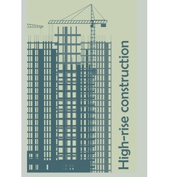 template construction of high rise buildings vector image vector image
