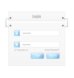 User login 8 vector