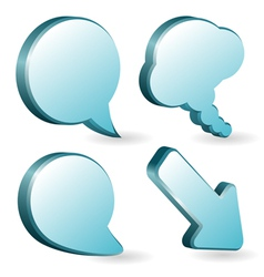volumetric speech bubbles vector image