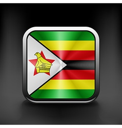 Zimbabwe icon flag national travel icon country vector image vector image
