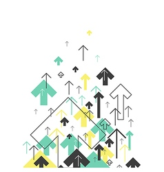 Abstract success concept growing arrows motion up vector