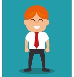 Successful businessman with growth icon vector