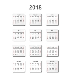 Calendar for 2018 year page posters vector