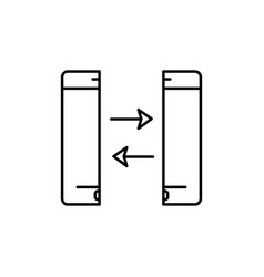 Phone backup synchronization icon vector