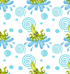 Seamless squid vector image