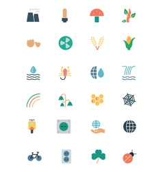Nature and ecology colored icons 4 vector