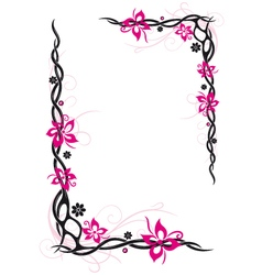 Abstract flowers frame vector