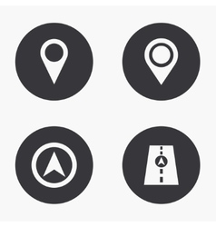 Modern map pointer icons set vector
