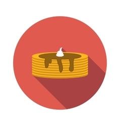 Pancake flat icon vector image