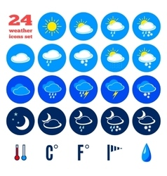 Symbols for climate changes diagnostic vector
